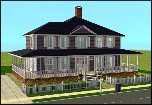 WIP country farmhouse just for fun.