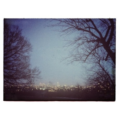 williammarlow:  City lights. #london #hampsteadheath #trees #cityscape #lights #city #dusk #snapseed  One of my favourite views in all of London