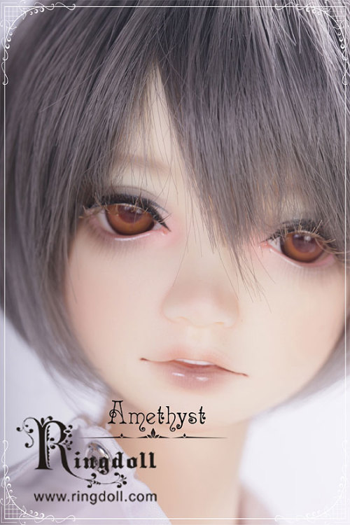 "64cm - Ring Teenager boy - ""Amethyst"" Amethyst comes with wig and eyes. Resin Options: normal or white skin resin Additional Options: face-up"