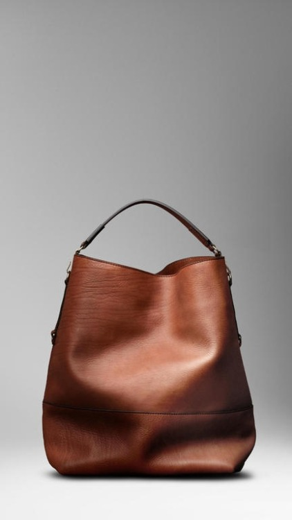 omg. need. desire. Burberry Large Washed Leather Duffle Bag.