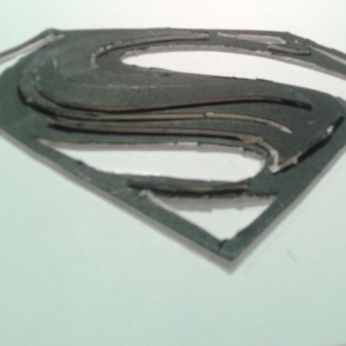 Working on site model and boredom kicked in, this is the result #superman #manofsteel #kalel #clarkkent #houseofel #hope #s #dc #comics #quick #rough #cutouts