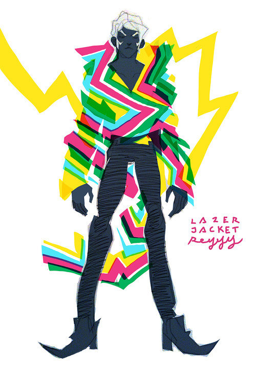 "sunbakerey:  ""LAZER JACKET"" the next Layered Jacket project from me. Debuting at Emerald City Comic Con 2013"