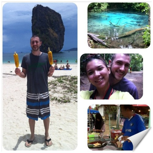 Good times in #thailand #exploring #emeraldpond #bluepool #podaisland #krabi #beach