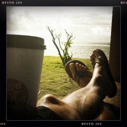 No can complain #coffee #kauai #morning (at Kapaa Beach Park)