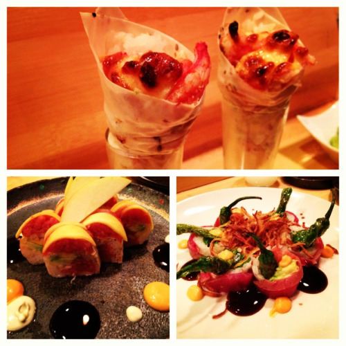 Baked crab handroll and other amazing rolls at Hamasaku!