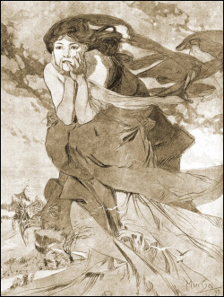 saveflowers1:  Art by Alphonse Mucha (1899).