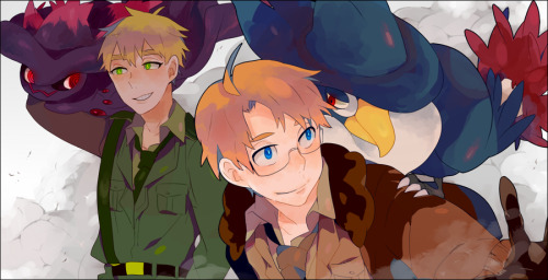 doitsu-is-a-free-elf:  Hetalia/pokemon by ~dentto