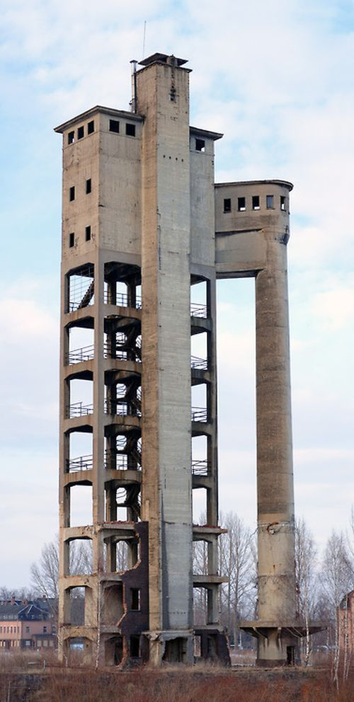 "abandonedporn:  ""Acid Tower"" in Zwickau, Germany - former paper factory"