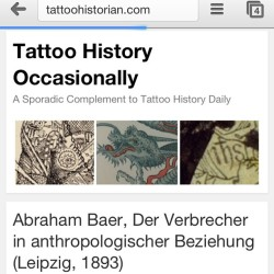 First proper blog post on Tattoo History Occasionally about the Baer book with many new images! Check it out…