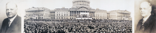 Panorama of the inauguration of President Herbert Hoover and Vice President Charles Curtis, Washington, D.C., March 4, 1929.  From the Library of Congress