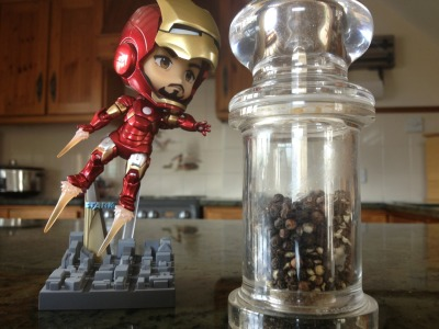 "thegahstly1:  ""PEPPER!"" My new Iron Man figure chasing his one true love."