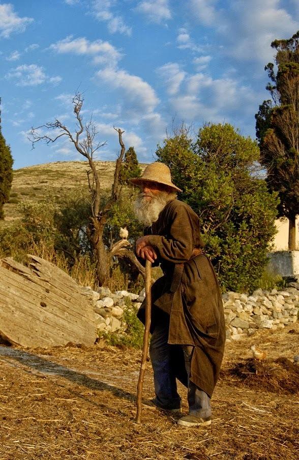 Ορθόδοξος Μοναχός Μεσημεριανό Καλοκαίρι Ελλάδα