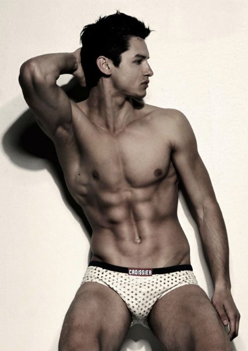 Another working week begins (boo).But we get to check out hot guys (yay).This is Aldin Busnov and we think he's a total hottie.He shows off his ripped bod in these shots by photographer Marcos Domingo Sanchez. Click here for more: http://www.dnamagazine.com.au/articles/news.asp?news_id=19245