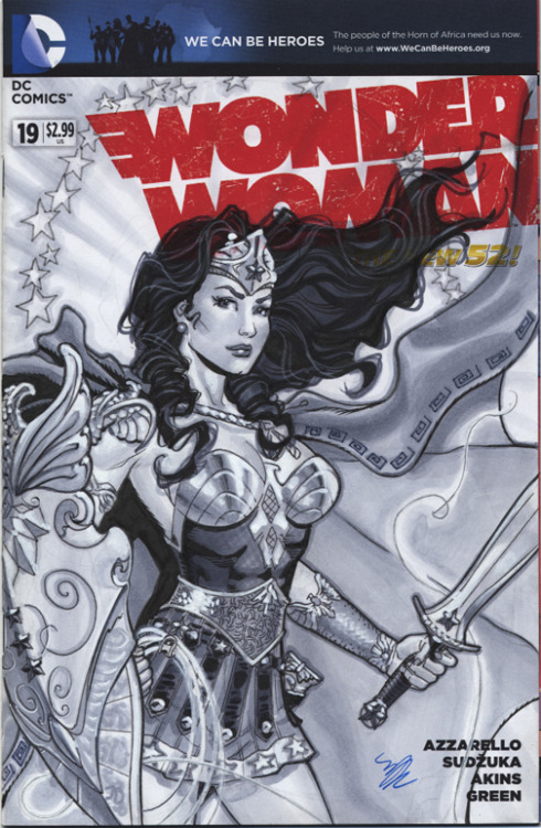 Wonder Woman in armor by Michael Dooney