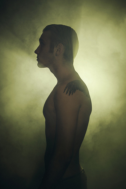 untitled on Flickr.Via Flickr: Model: Andrew McAleer Experimenting with strobes and a fog machine. Like my Facebook page?