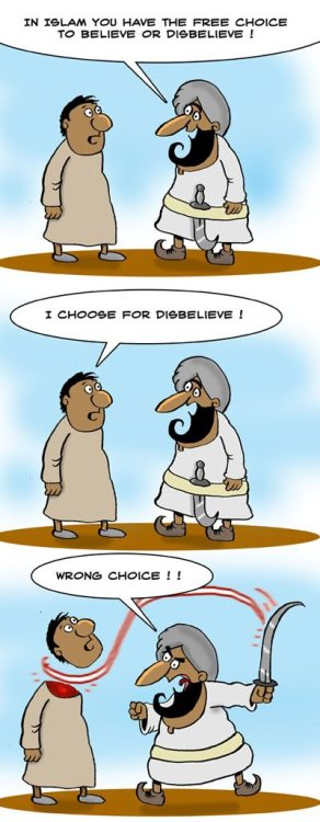 Freedom of religion, choice & speech, Islamic style hahahaha