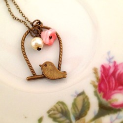 Chirp chirp #jewelry #etsy #handmade #fashion #bird #cutelittlethings #vintage