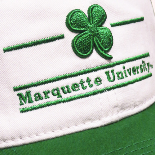 Marquette University shamrock cap from the Spirit Shop.