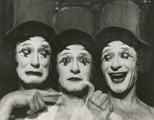 Le mime Marcel Marceau, 1976 -by Jack Mitchell from drouot