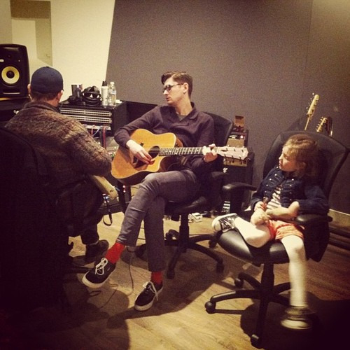 "fueledbybeckett:  ""Having a great day in the studio with Daddio."""