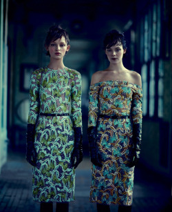 femalemodels:  Kinga Rajzack & Daga Ziober by Boo George for Style Magazine. Spring 2012.
