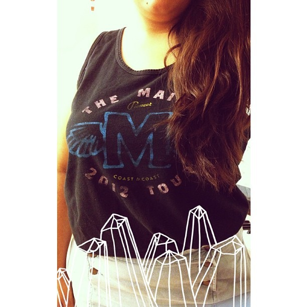 I just love this tank so much❤ #themaine #merch #overlays #long #hair #me