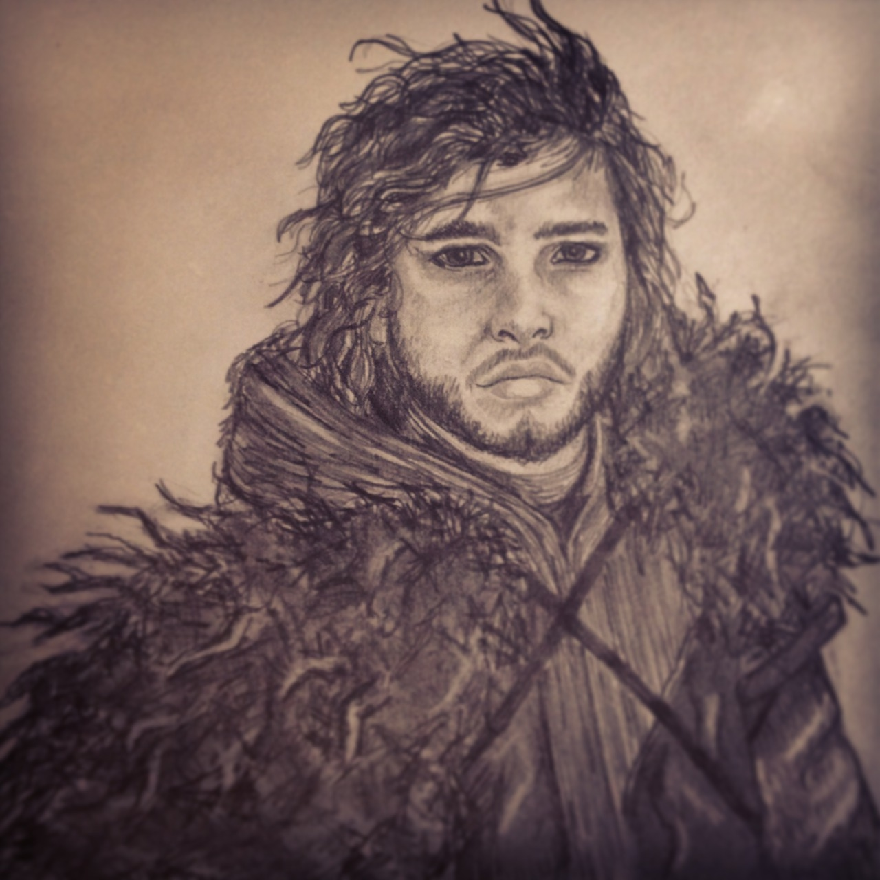 Words Are Wind… My drawing of Jon Snow <3