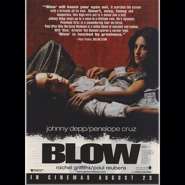 One of the greatest.. #blow #johnnydepp #penelopecruz