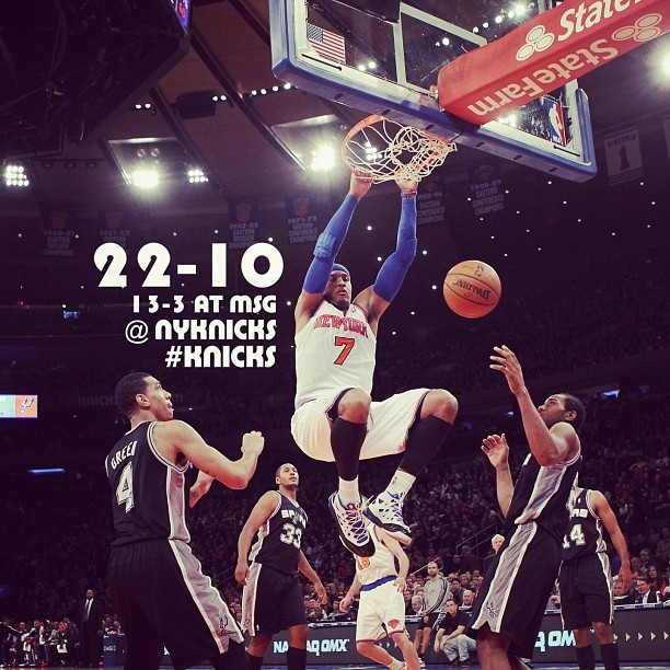instanba:  Knicks PROTECT the GARDEN with an Emphatic win over the Spurs, 100-83. :: http://instagr.am/p/UDFRwuKMBw/