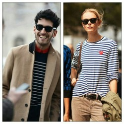 Imaginary couple:stripes,wayfarer,kakhi