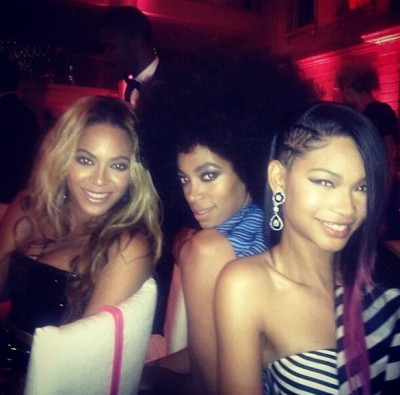 """Power trio #metball"" - Chanel Iman"