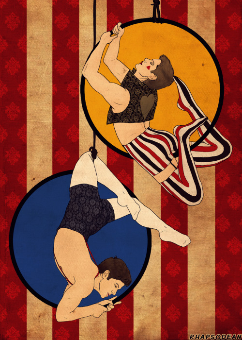 deancas circus au: acrobatsbecause there should be way more circus aus //coughs loudly //nudges
