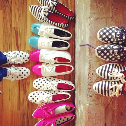 katespadeny:  rainy day dilemmas with a little help from @keds. #fromwhereistand  need all of them.