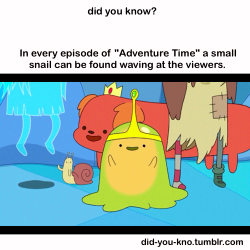 "did-you-kno:  The only episode not to feature this snail is ""Trouble in Lumpy Space"". Source"