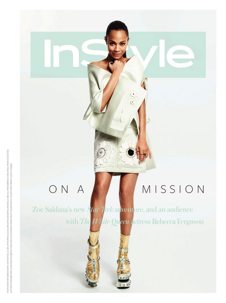 blackfashion:  Zoe Saldana covers the June 2013 issue of InStyle UK magazine photographed by Damon Heath On aging in Hollywood:  I've been told by producers, 'Well, you know we need to get on this because you're not getting any younger…' Women are reminded of their age all the time. It's usually by a fricking fat, big-bellied old man with a comb-over and you look at him and you're like, 'Really? Give me a break. You just have more money and more power in this situation than I do, but not in my life.' I'm tired of watching these 50-year-old actors with these 23-year-old actresses and they're soul mates in the movie. What? [in real life] a 23-year-old would look at a 50-year-old and go, 'Are you kidding me?!'