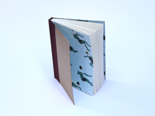 sayoreedesigns:  handbound book (using wrapping paper from LGC)