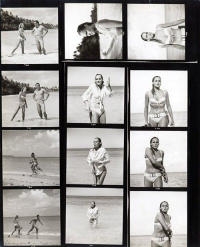 airows:  Black & White Contact Sheet From 1962 Film 'Dr. No' For Sale « Airows