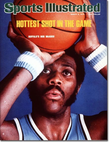 1976 - Bob McAdoo In 1976, Bob McAdoo appeared on the cover of Sports Illustrated. That season he led the NBA in scoring, and secured the last consecutive winning season for the Braves (later L.A. Clippers) until 2013.