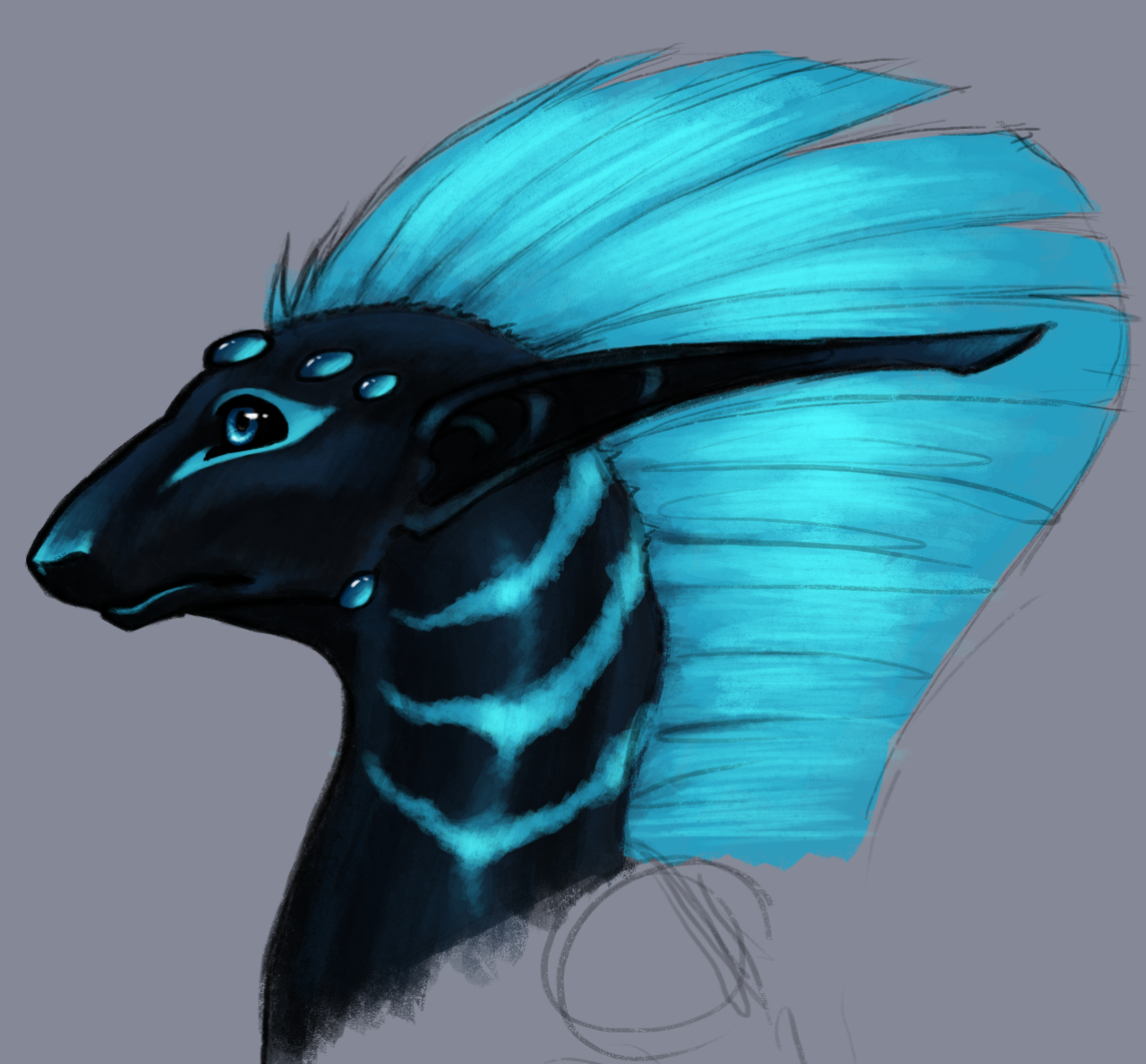 Did some painterly sketching and it became Dyn'Mira