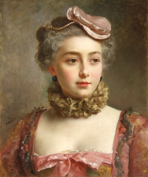 monsieurleprince:  Gustave Jean Jacquet (1846 - 1909) - Portrait of a young Lady
