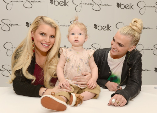 Jessica Simpson had her second baby shower this year, because I guess that's something people do now. At this rate, Jessica's friends are going to be broke by 2015. Fellow celebrities, a word. The only two circumstances under which it is not aggressively tacky to throw a second (or third or fourth) baby shower are as follows: A charity shower, so people can celebrate the mom (as they should, since she is about to birth a new famous person) without having to buy her tacky self a present. She is rich — it is insulting to suggest that she can't afford her own baby gear. If you meet all of these criteria: you have a bunch of boys, you are finally pregnant with a girl, your youngest is older than five, and your name rhymes with Blictoria Schmeckham. Then it's okay.