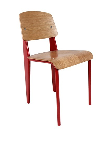 "Control Brand Color-Block Bentwood Chair, Red  Powder-coated sheet steel and round steel frame with seat and backrest in plywood with clear-varnished oak veneer Material type: Wood, Steel Country of origin: China Authentic product  Item Dimensions: height 32"", width 19"", depth 16.5"" Price :$519 $260"
