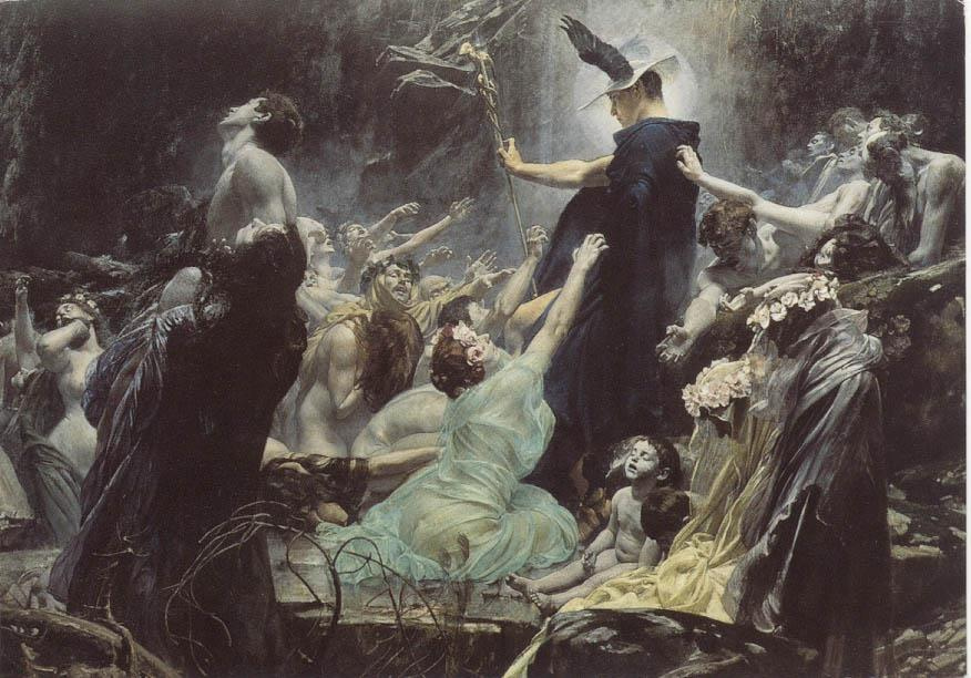 Adolf Hiremy-Hirschl, Souls on the Banks of the Acheron, 1898