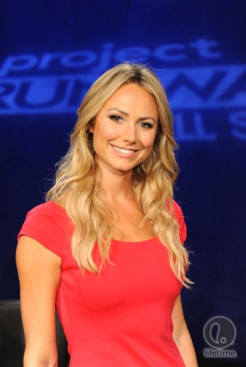 Who could forget how gorgeous Stacy Keibler looked on Project Runway All Stars last night? Shop the look.
