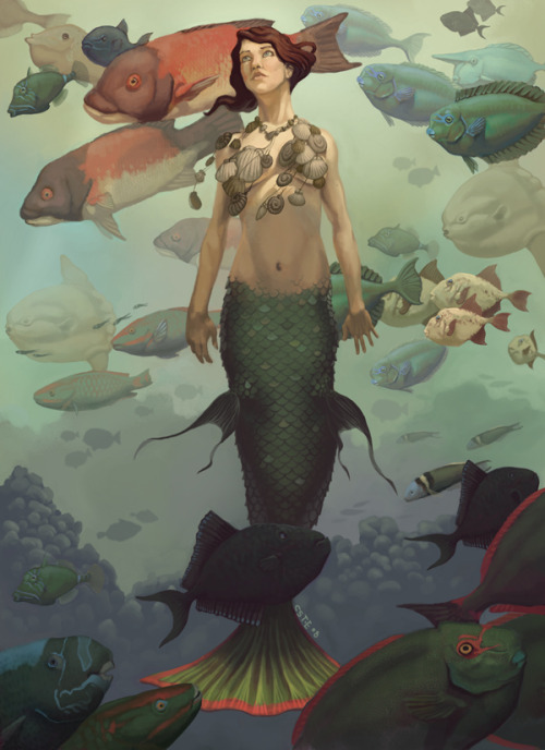 by ~M0AI I had a student tell me that she wanted to be a mermaid when she grew up.  Join the club, kid.