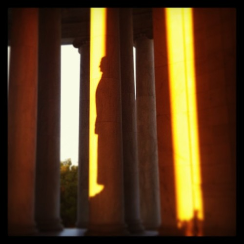 Profile at dusk (at Jefferson Memorial)