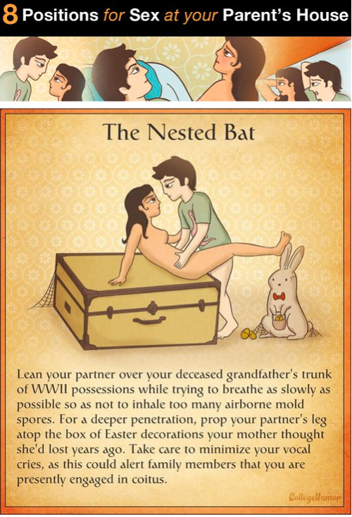 collegehumor:  8 Positions for Sex at Your Parents' Place [Click to continue reading]