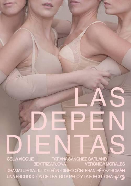 """Precioso cartel para el estreno absoluto de """"Las Dependientas"""" de Teatro a Pelo, del 23 al 26 de marzo en La Fundición de Sevilla."""