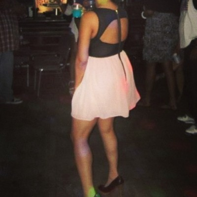 Last one!!! Only pic I got of the bk of my dress all nite! 💛💛💛💛