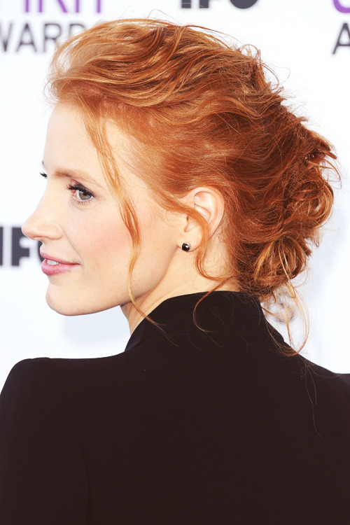 Jessica Chastain at the 2012 Film Independent Spirit Awards // neuronstarcollision:katesinslets